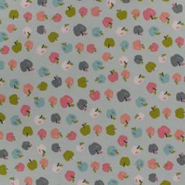 Tissu popeline de coton Oeko-Tex Poppy Sweet apples - gris x 10cm