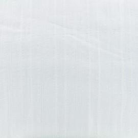 Tissu coton brodé ajouré Authentic - blanc x 10cm