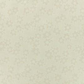 Tissu voile de coton dévoré Flora - écru x 10cm