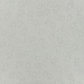 Tissu voile de coton dévoré Flora - blanc x 10cm