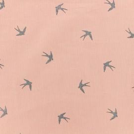 Tissu velours milleraies Swallow - rose x 10cm
