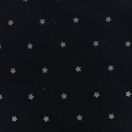 Tissu velours milleraies Stars - bleu nuit x 10cm