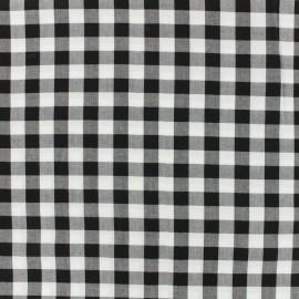 Tissu viscose Vichy - noir x 10 cm