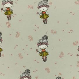Tissu Oeko-Tex jersey Poppy Glitter girl - beige x 10cm