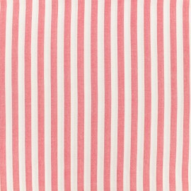 Tissu viscose Rayé - rouge x 10 cm