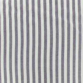 Viscose fabric Rayé - blue x 10 cm