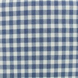 Tissu chambray Vichy - bleu x 10 cm