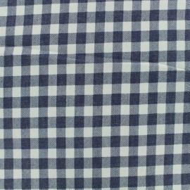 Tissu chambray Vichy - bleu marine x 10 cm