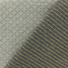 Quilted Jersey reversible Fabric The shining - gold x 10cm