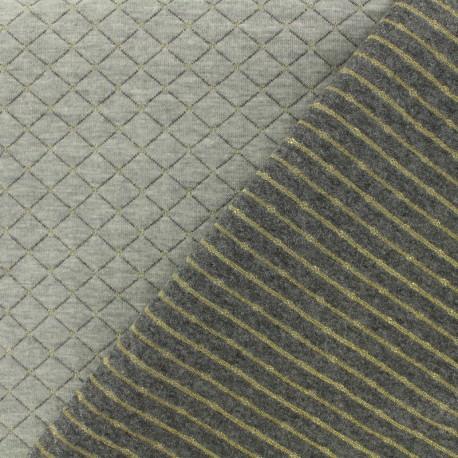 Tissu jersey matelassé réversible The shining - doré x 10cm