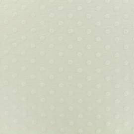 Oeko-Tex Dots Flocked velvet jersey fabric - whipped cream x 10cm
