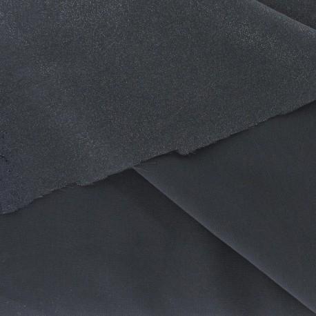 Tissu Mousseline Pailletée gris-argent x50cm