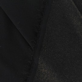 Tissu Mousseline Pailletée noir-doré x 50cm