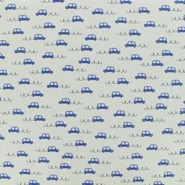 Oeko-Tex jersey designed by Poppy Little cars - grey x 10cm