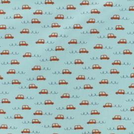 Tissu Oeko-Tex jersey Poppy Little cars - bleu x 10cm