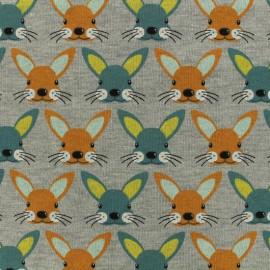 Tissu Oeko-Tex sweat Poppy Bunnies - clementine x 10cm