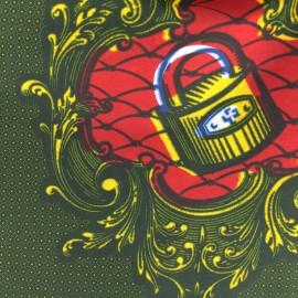 Tissu Wax - Konkomba x 10cm
