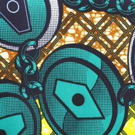 Wax print fabric - Kikongo x 10cm