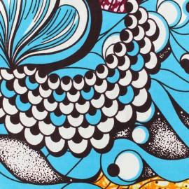 Tissu Wax - Bantou x 10cm