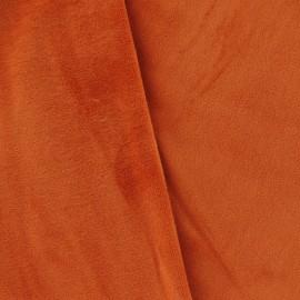 Velours éponge orange foncé
