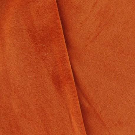 Jersey sponge velvet fabric - Pumpkin x 10cm