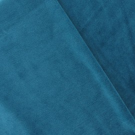 Velours éponge bleu canard