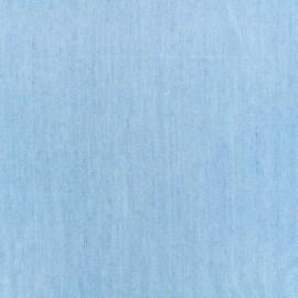 Viscose fabric Denim aspect - light blue x 10 cm