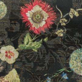 Tissu jacquard Elio - noir x 10cm