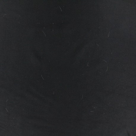 Dark plain Lycra fabric - black x 10cm