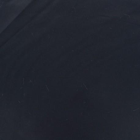 Dark plain Lycra fabric - midnight blue x 10cm