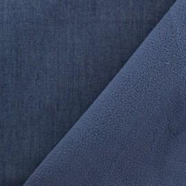 Tissu Softshell Denim - bleu x 10cm
