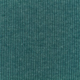 Light stitch fabric rib - blue x 10cm