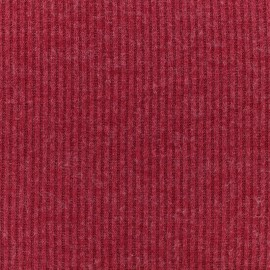 Light stitch fabric rib - red x 10cm