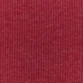Tissu Maille légère a côtes - rouge x 10cm