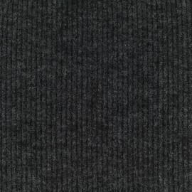 Light stitch fabric rib - dark grey x 10cm