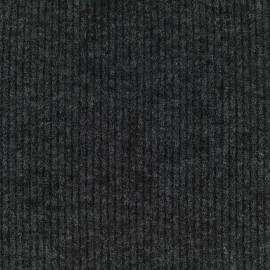 Tissu Maille légère a côtes - gris foncé x 10cm