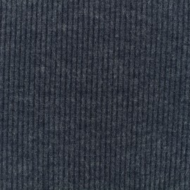 Light stitch fabric rib - dark blue x 10cm