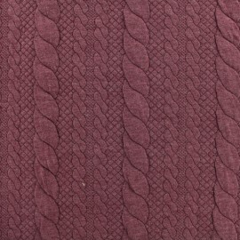 Jersey plain Torsade knitted fabric - red x 10cm