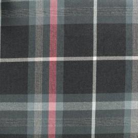 Tissu tartan écossais Gris anthracite / Rouge x10cm