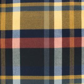 Scottish tartan fabric - mustard/red x 10cm