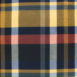 Tissu tartan écossais Moutarde / Rouge x10cm