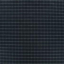Tissu Jersey Milano carreaux - nuit noire x 10cm