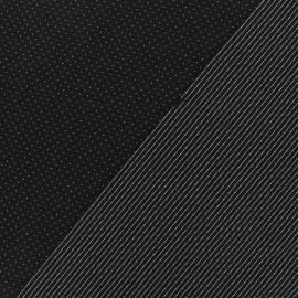 Tissu Jersey réversible Milano pois/rayures - noir x 10cm