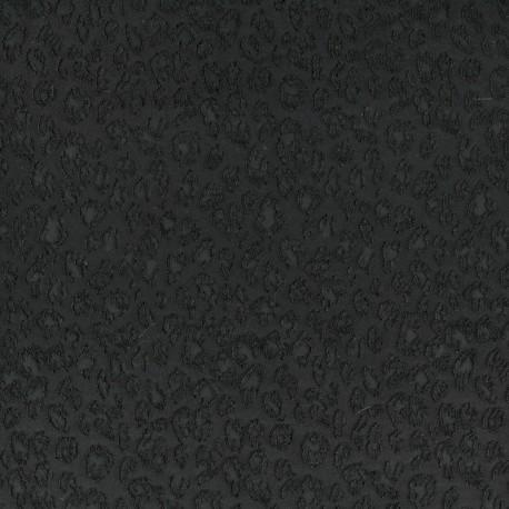 Jacquard leopard jersey fabric x 10cm