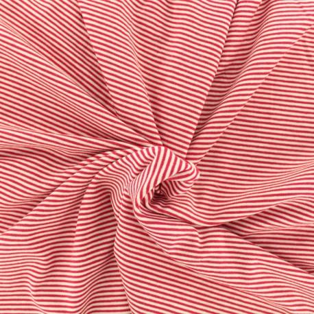 tissu jersey ray bateau rouge x 10cm. Black Bedroom Furniture Sets. Home Design Ideas