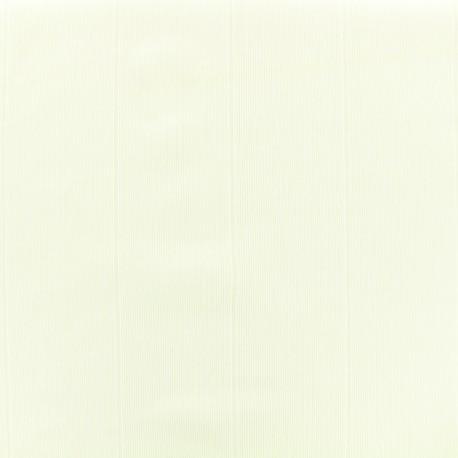 Thick lycra fabric with thin ribs - ecru x 10cm