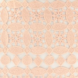 Guipure embroidery fabric - old pink x 10cm