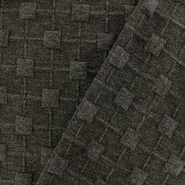 Tissu Jersey maille Cube Relief - gris x 10cm