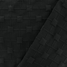 Relief cube jersey fabric - black x 10cm