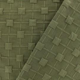 2082acc7923 Relief cube jersey fabric - khaki x 10cm